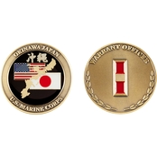 Challenge Coin USMC Okinawa Warrant Officer 1 Coin