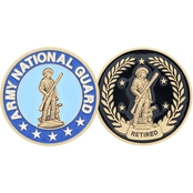 Challenge Coin Army National Guard Retired Coin