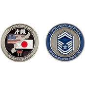 Challenge Coin Air Force Rank Okinawa Senior Master Sergeant Coin