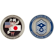 Challenge Coin Air Force Rank Okinawa Senior Master Sergeant with Diamond