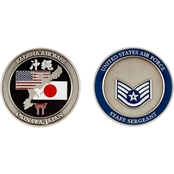 Challenge Coin Air Force Rank Okinawa Staff Sergeant