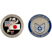 Challenge Coin Air Force Rank Okinawa Technical Sergeant Coin
