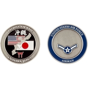 Challenge Coin Air Force Rank Okinawa Airman Coin