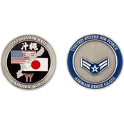 Challenge Coin Air Force Rank Okinawa Airman First Class Coin