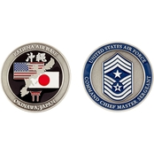Challenge Coin Air Force Rank Okinawa Command Chief Master Sergeant