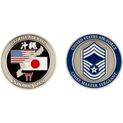 Challenge Coin Air Force Rank Okinawa Chief Master Sergeant