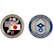 Challenge Coin Air Force Rank Okinawa Chief Master First Sergeant