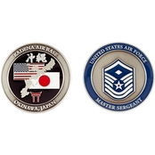 Challenge Coin Air Force Rank Okinawa Master Sergeant with Diamond