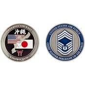 Challenge Coin Air Force Rank Okinawa Chief Master Sergeant of Air Force