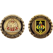 Challenge Coin Ft. Leonard Wood Maneuver Support Center Transcorps Coin