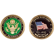 Challenge Coin U.S. Army Retired Coin