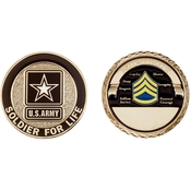 Challenge Coin Army Rank Staff Sergeant Coin