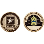 Challenge Coin Army Rank Master Sergeant Coin