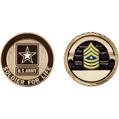 Challenge Coin Army Rank Sergeant Major Coin
