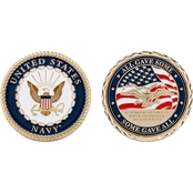 Challenge Coin US Navy Service Memorial Coin