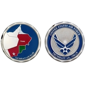 Challenge Coin Thumrait Air Base Oman Map Coin