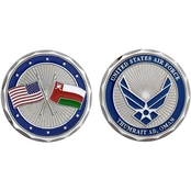 Challenge Coin Thumrait Air Base Oman Flag Coin