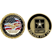 Challenge Coin Army Soldier For Life Service Memorial Coin