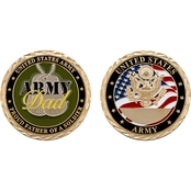 Challenge Coin Proud Army Dad Coin