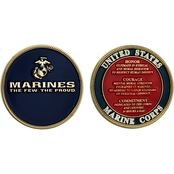 Challenge Coin USMC Marines Values Coin