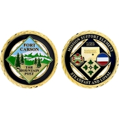 Challenge Coin Carson Main Mountain Post Mission Support Element Coin
