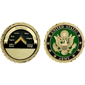 Challenge Coin U.S. Army Seal Rank Private Coin