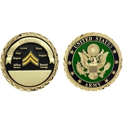Challenge Coin U.S. Army Seal Rank Corporal Coin