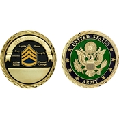 Challenge Coin U.S. Army Seal Rank Staff Sergeant Coin