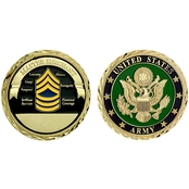 Challenge Coin U.S. Army Seal Rank Master Sergeant Coin