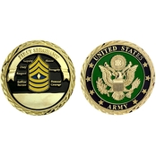 Challenge Coin U.S. Army Seal Rank First Sergeant Coin