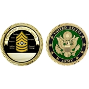 Challenge Coin U.S. Army Seal Rank Command Sergeant Coin