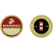 Challenge Coin USMC Rank Warrant Officer 4 Coin