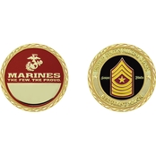 Challenge Coin USMC Rank Sergeant Major Coin