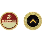 Challenge Coin USMC Rank Private First Class Coin