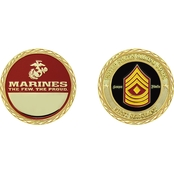 Challenge Coin USMC Rank First Sergeant Coin