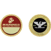 Challenge Coin USMC Rank Colonel Coin