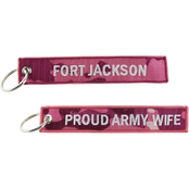 Challenge Coin Proud Army Wife Ft. Jackson Keychain