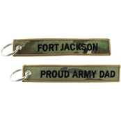 Challenge Coin Proud Army Dad Ft. Jackson Keychain