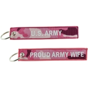Challenge Coin Proud Army Wife Keychain