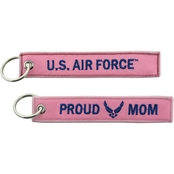 Challenge Coin Proud Air Force Mom Keychain