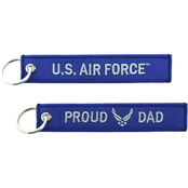 Challenge Coin Proud Air Force Dad Keychain