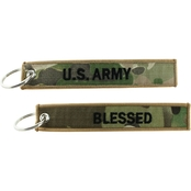 Challenge Coin Blessed Keychain