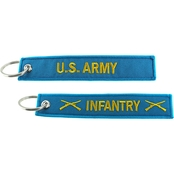 Challenge Coin Infantry Keychain