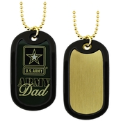 Challenge Coin Proud Army Dad Dog Tag