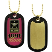 Challenge Coin Army Proud Mom Dog Tag