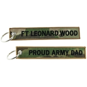 Challenge Coin Proud Army Dad Ft. Leonard Wood Keychain