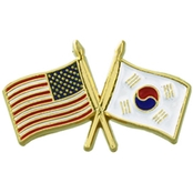 Challenge Coin US South Korea Flags Pin