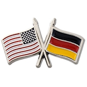 Challenge Coin USA Germany Cross Flags Pin