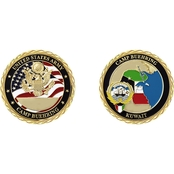 Challenge Coin Camp Buehring Kuwait Flags Coin