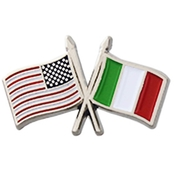 Challenge Coin USA Italy Cross Flags Pin